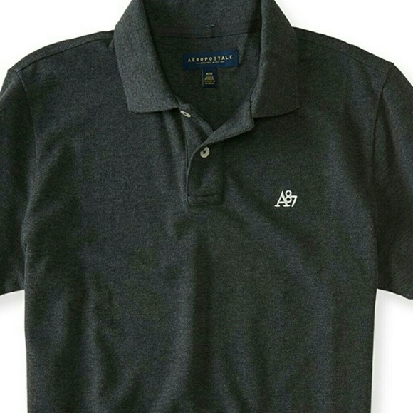 5bcb3f52d Aeropostale Shirts | Mens Dark Grey A87 Polo By | Poshmark